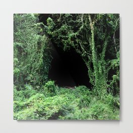 Entrance to Mysterious Jungle Escape Room Metal Print
