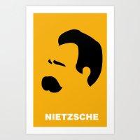 nietzsche Art Prints featuring NIETZSCHE by eve orea