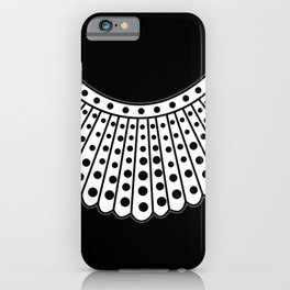 RBG Collar, Ruth Bader Ginsburg Tribute iPhone Case