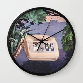 Late Nite Phone Talks Wall Clock