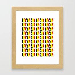 Flag of belgium 2-belgian,belge,belgique,bruxelles,Tintin,Simenon,Europe,Charleroi,Anvers,Maeterlinc Framed Art Print
