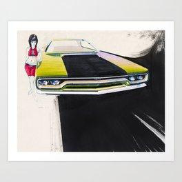 1970 SubLime Muscle Car Art Print
