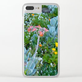 Succulents & Flowers Clear iPhone Case