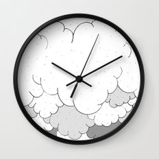 The moon and the clouds Wall Clock