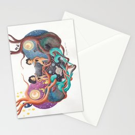 Boy and Girl In A Love World of Their Own Stationery Cards