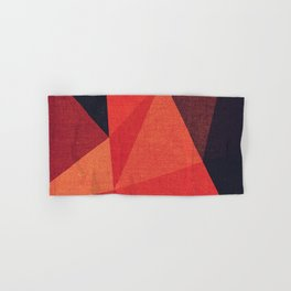 Abstract geometric patter.Triangle background Hand & Bath Towel