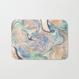 Liquid Bronze Mermaid Sea Marble Bath Mat