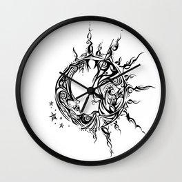 Tribal Sun and Moon Wall Clock
