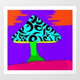 Fantasy Mushroom Art Print