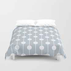 BlueGray Lined Polka Dot Duvet Cover