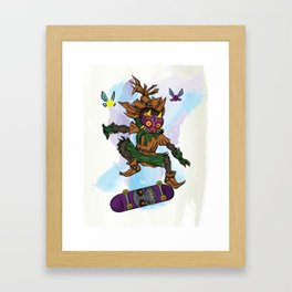 You've Met With A Gnarly Fate, Haven't You? Framed Art Print