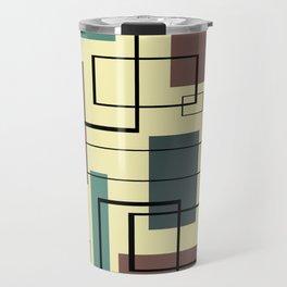 Mid Century Modern Rectangles Travel Mug