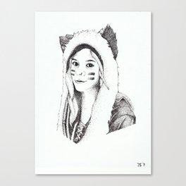 Dotwork Portrait Canvas Print
