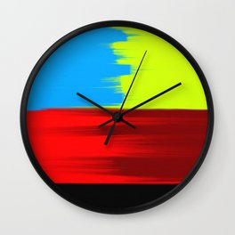 Abstract Painting No 344 By Chad Paschke Wall Clock
