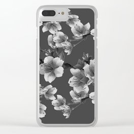 CHARCOAL GREY GARDEN  FRUIT TREES FLOWERS Clear iPhone Case