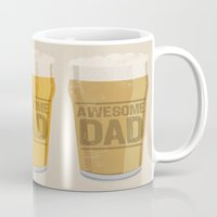 dad Mugs featuring DAD by Kiley Victoria