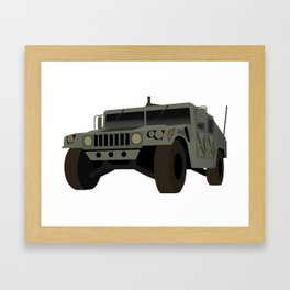 HUMVEE Army Military Truck Framed Art Print
