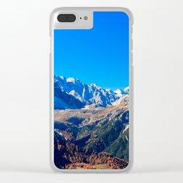 The Three Cime di Lavaredo in an autumn day Clear iPhone Case
