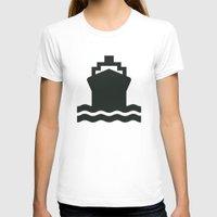 ship T-shirts featuring Ship by Alejandro Díaz