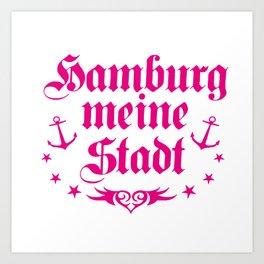 Hamburg - meine Stadt Art Print