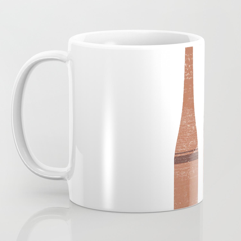 Greek Pottery 28 Tall Vases Terracotta Series Modern Contemporary Minimal Abstract Brown Coffee Mug By Grafiikka Society6