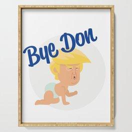 Bye Don 2020, Joe Biden 2020 Anti-Trump Serving Tray