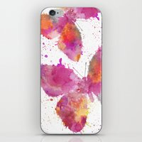 artsy iPhone & iPod Skins featuring Artsy Butterfly by LebensART