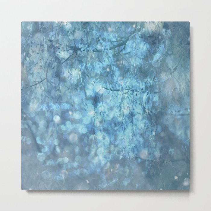 MYSTICAL BLUE WINTER Metal Print