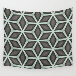 Mint Green, Cream & Chocolate Brown No. 7 Wall Tapestry