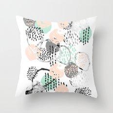 Brice - abstract minimal modern painting home decor minimalist art Throw Pillow