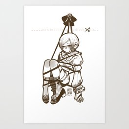 Lonely Doll Art Print