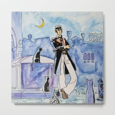 Corto Maltese with cats Metal Print