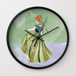 Watercolour Princesses: Anna Wall Clock