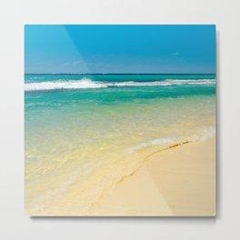 maui beaches into the blue Metal Print