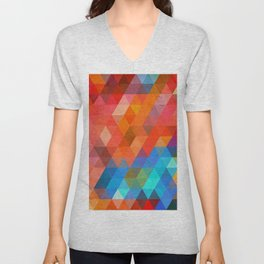 Color Triangles Unisex V-Neck