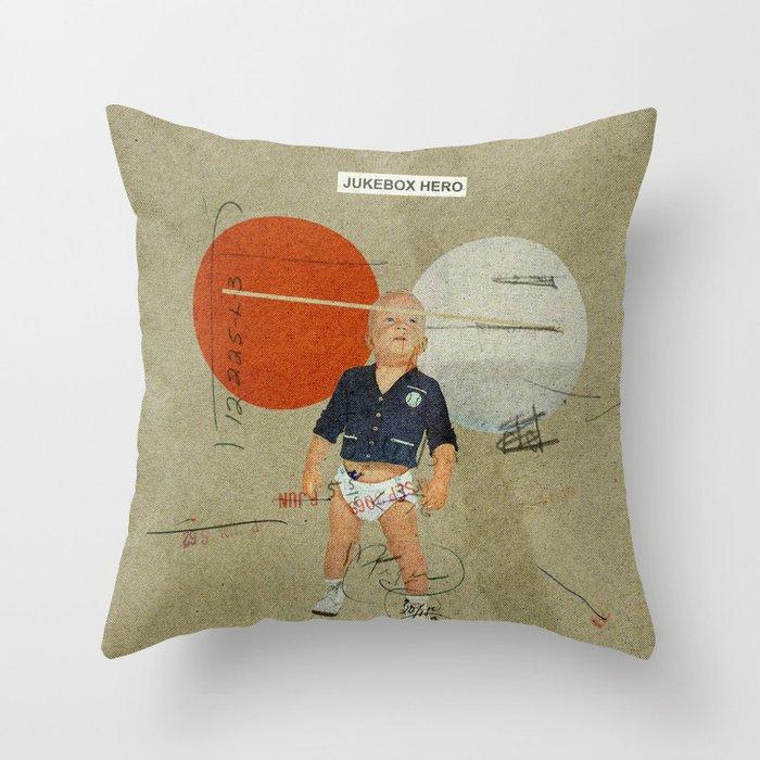 Jukebox Hero | Collage Throw Pillow