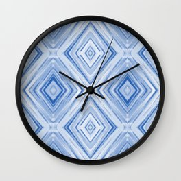 Blue watercolor pattern Wall Clock