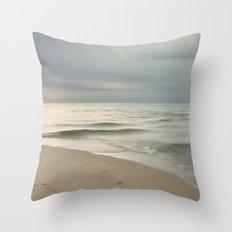 Beach Impression Throw Pillow