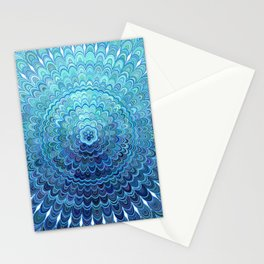 Frozen Oval Mandala Stationery Cards