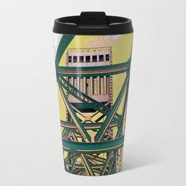 Main street bridge art print - Jacksonville, Florida - industrial steel beauty Travel Mug