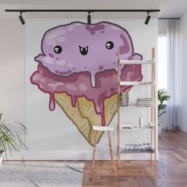 Vampire Ice Cream Cone Wall Mural