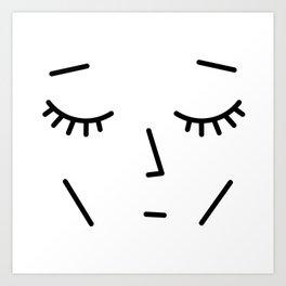 Face Sleep Art Print