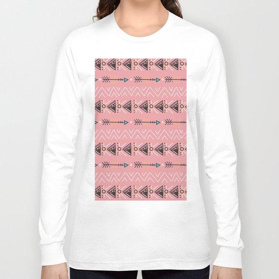 Triangle arrow pattern Long Sleeve T-shirt