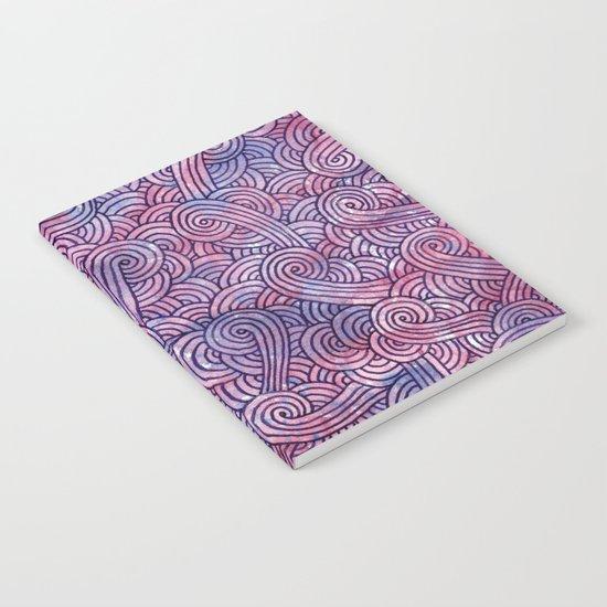 Purple swirls doodles Notebook