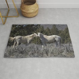Wild Horses with Playful Spirits No 1 Rug