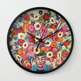 Your thoughts are seeds Wall Clock