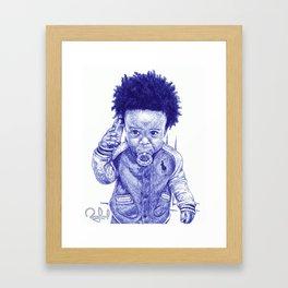 Afro Kid Framed Art Print