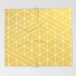 Golden Goddess Throw Blanket