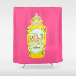 ROYAL WORCESTER PRINT PINK Shower Curtain