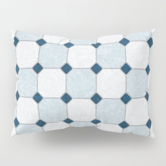 Sky Blue Classic Floor Tile Texture Pillow Sham By Textures Society6